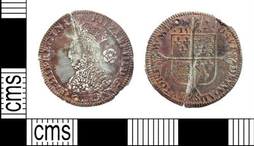 A resized image of Elizabeth I milled threepence