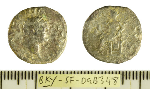 A resized image of Roman coin: silver denarius struck for Vespasian