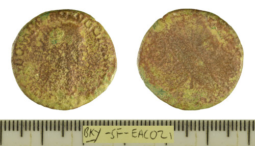 SF-EAC021: Roman coin: copper-alloy dupondius struck for Domitian