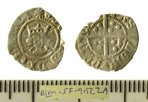 A resized image of Silver hammered halfpenny Edward IV halfpenny