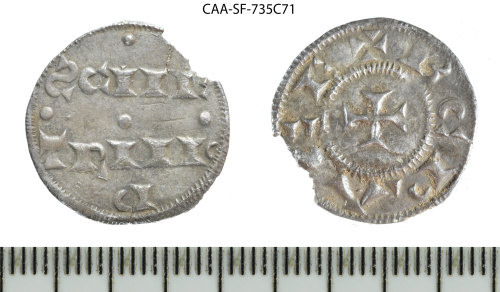 SF-735C71: Early Medieval coin: Anglo-Scandinavian 'St Peter of York' type