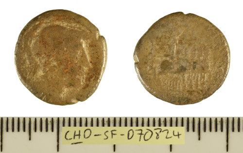 SF-D70824: Roman coin: silver denarius struck for L. Rubrius Dossenus