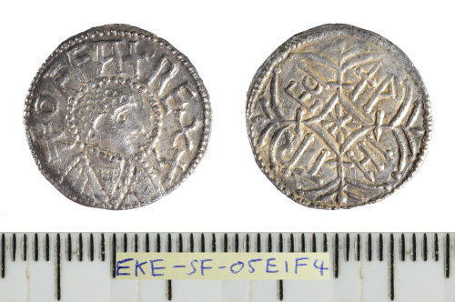 SF-05E1F4: Early Medieval coin: silver hammered penny of Offa