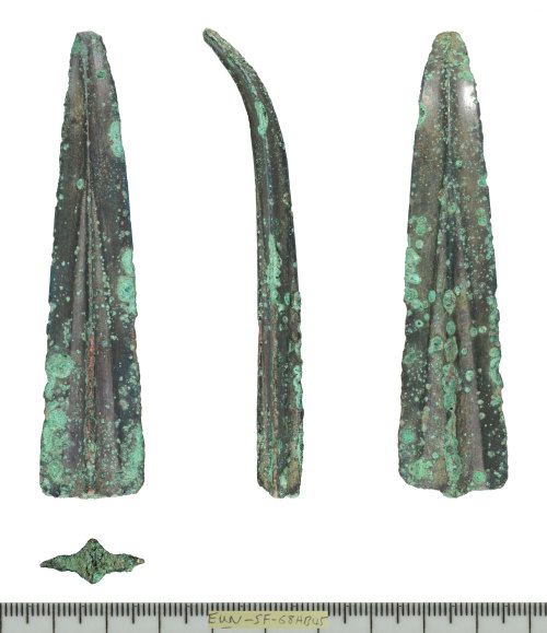 SF-68AB45: Fragment of Middle Bronze Age spearhead