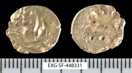 SF-448331: Iron Age coin: gold quarter stater of the Eastern Region