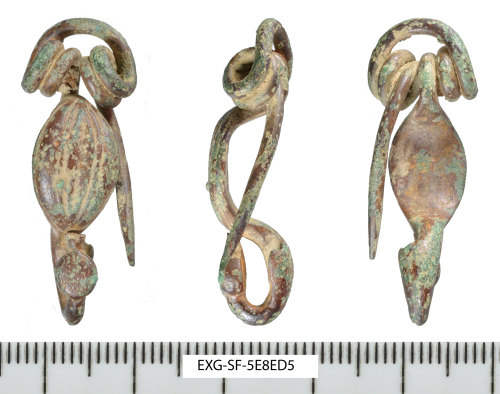 SF-5E8ED5: Early Iron Age copper-alloy bow brooch of Adams type 1b