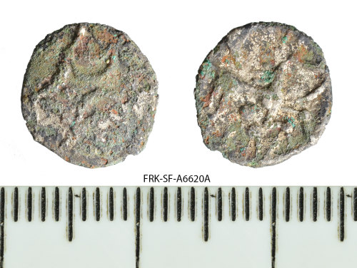 A resized image of Iron Age coin: silver plated unit of the Iceni