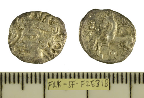 SF-F2E31B: Iron Age coin: silver unit struck for the East Anglian region
