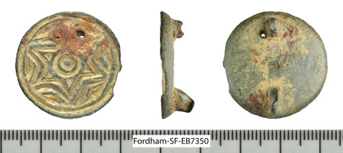 SF-EB7350: Early Anglo-Saxon gilded saucer brooch
