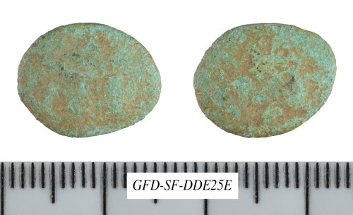 SF-DDE25E: Possible Iron Age coin: copper-alloy unit struck for uncertain ruler