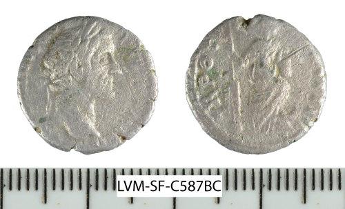 SF-C587BC: Roman coin: silver denarius of Antoninus Pius