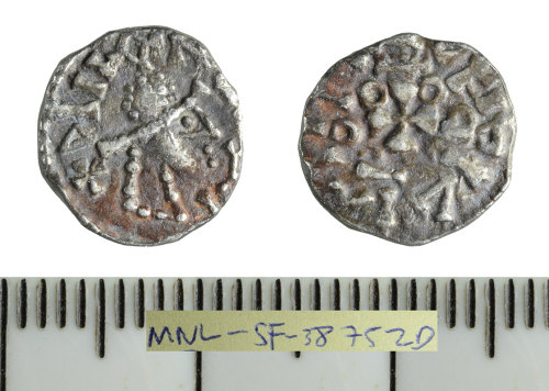 SF-38752D: Early Medieval coin: silver sceatte