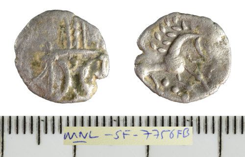 SF-7756FB: Iron Age coin: silver unit of the East Anglian region