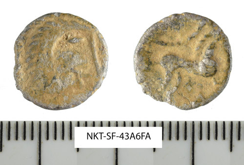 SF-43A6FA: Iron Age coin: silver unit of the East Anglian region