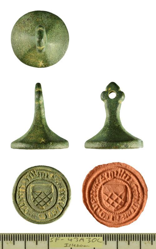 SF-43A30C: Medieval armorial seal matrix