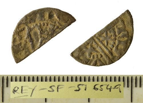SF-516549: Medieval coin; silver cut halfpenny of Alexander III