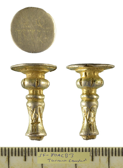 SF-80ACB3: Post-Medieval silver-gilt seal top spoon