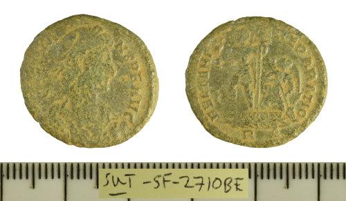 SF-2710BE: Roman coin: large module nummus struck for Constans