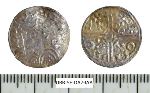 A resized image of Early Medieval coin: penny of Harold I