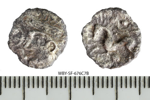 SF-676C7B: Iron Age coin: silver unit of the East Anglian region