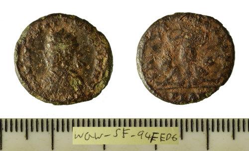 SF-94FED6: Roman coin: copper-alloy nummus struck for Constantine II