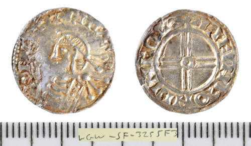 SF-3255F3: Early Medieval coin: silver penny of Cnut