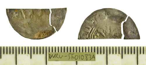 SF-01083A: Cut halfpenny struck for Henry I, pointing bust and stars type