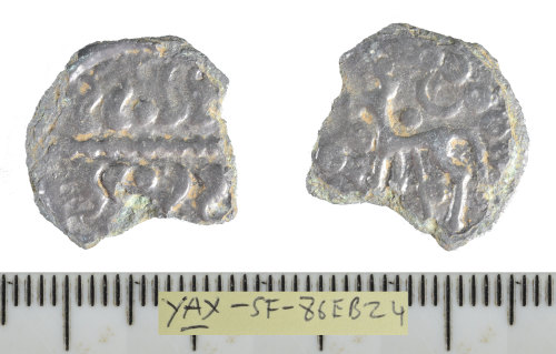 SF-86EB24: Iron Age coin: copper-alloy Continental potin