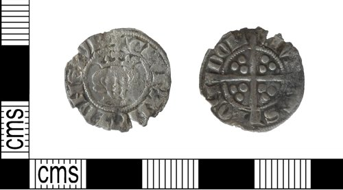 LVPL-8CFBD6: Medieval hammered silver coin, a penny of Edward I