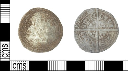 LVPL-3EBC4E: A Medieval hammered silver coin of Edward III, a groat of the post treaty period (N 1286)