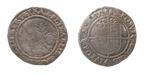 LVPL-51D098: Post-medieval coin: sixpence of Elizabeth I