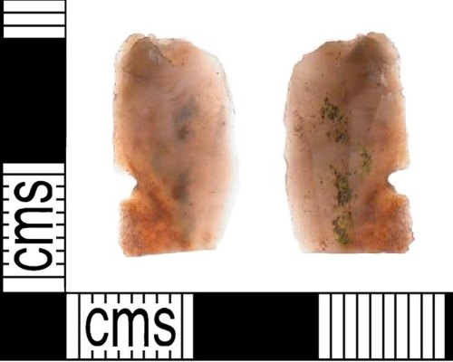 LVPL-8FFEF1: Mesolithic flint notched blade microlith