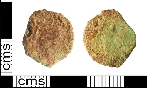 A resized image of Roman coin: radiate or nummus of an unknown emperor