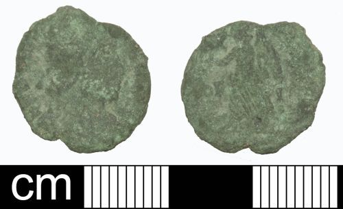 SOM-BF1FF1: Roman coin: Nummus of the House of Valentinian