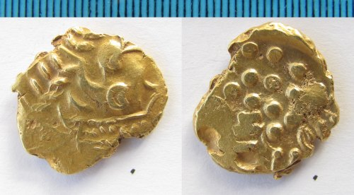 NMS-FD505B: Iron Age coin : gold stater