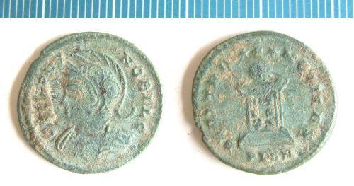 NMS-2A0C43: Roman coin : nummus of Crispus