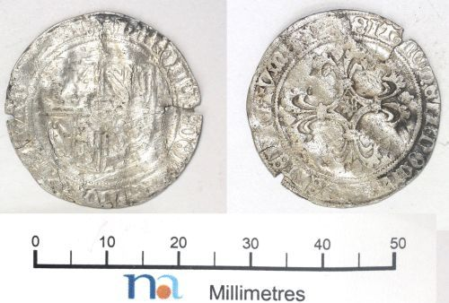 NMS-A7A877: Medieval coin : double patard of Charles the Bold