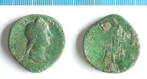 NMS-3D9088: Roman coin : dupondius of Sabina