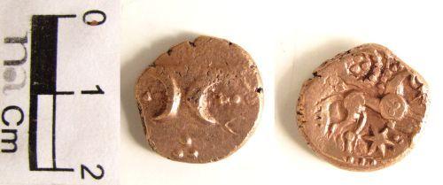 NMS-E10384: Iron Age coin : Freckenham type stater