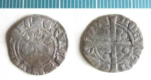 NMS-9884B6: Medieval coin : sterling of Gaucher of Chatillon