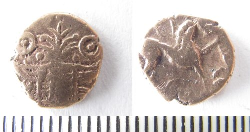 NMS-67B0D4: Iron Age coin : quarter stater of the Iceni
