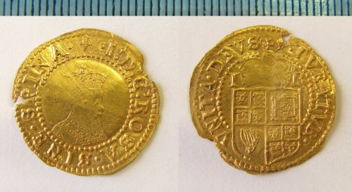 NMS-FD2EEA: Post medieval coin : halfcrown of James I