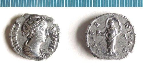 NMS-B359E5: Roman coin : denarius of Faustina