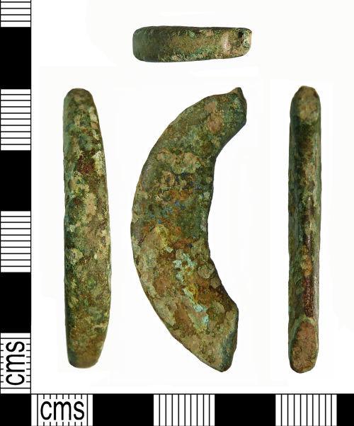 NMS-61462C: Roman Brooch; Bow fragment of crossbow brooch