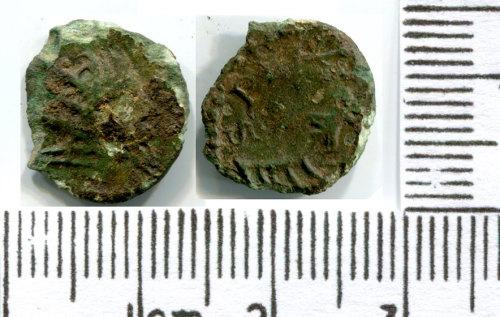 NMS-3FFAB1: Roman coin: irregular radiate