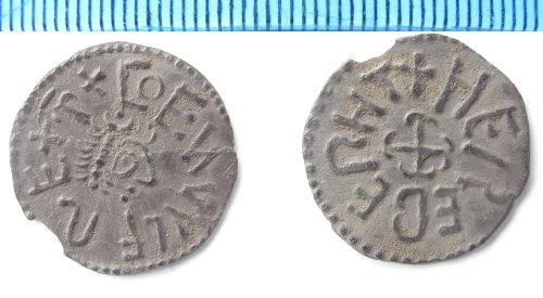 NMS-4AA30E: Anglo Saxon coin: Silver penny of Coenwulf of Mercia