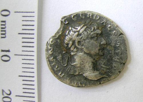 SWYOR-500F78: Roman denarius of Trajan, obverse