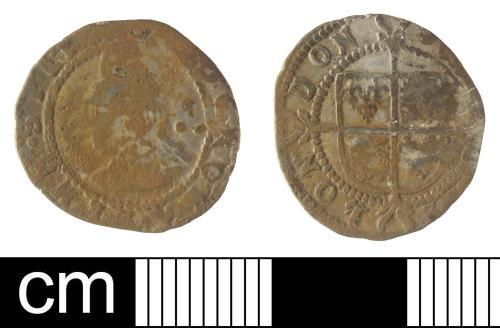 SOM-760958: Half groat of Elizabeth I
