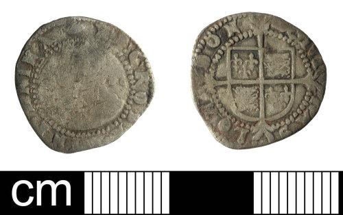 SOM-7E9CD8: Half Groat of Elizabeth I