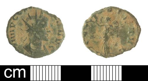SOM-C36A9F: Copper alloy radiate of Claudius II